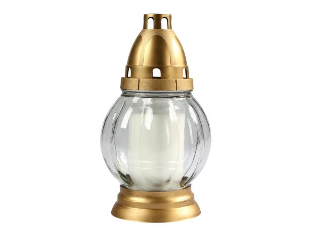 Lampa hřbitovní MELOUN skleněná 150g d10x20cmbí