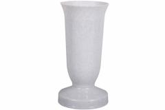 Váza hřbitovní KALICH těžká plastová granitová d12x24cm