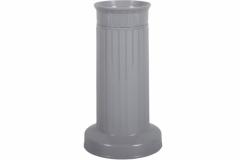 Váza hřbitovní SLOUP těžká plastová šedá d12x22cm